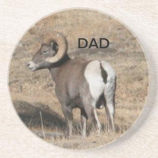 Big Horn Ram Dad Beverage Coasters