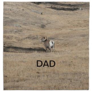 Big Horn Ram Dad Printed Napkins
