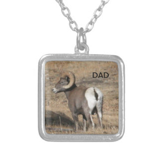 Big Horn Ram Dad Silver Plated Necklace