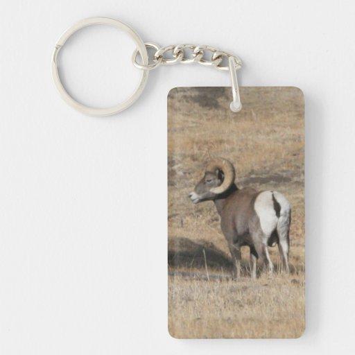 Big Horn Ram Double Acrylic Keychain