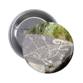 Big horn sheep petroglyph pinback buttons