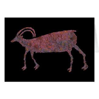 Big Horn Sheep Petroglyph Card