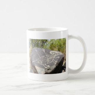 Big horn sheep petroglyph coffee mug