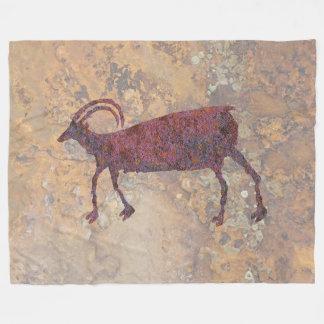 Big Horn Sheep Petroglyph Fleece Blanket