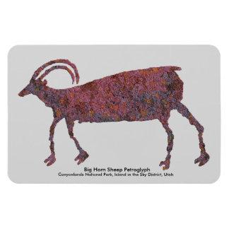 Big Horn Sheep Petroglyph Rectangular Photo Magnet