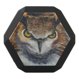 Big Horned Grumpy Owl Black Bluetooth Speaker