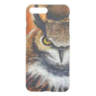 Big Horned Grumpy Owl iPhone 8 Plus/7 Plus Case