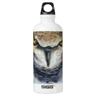 Big Horned Grumpy Owl Water Bottle