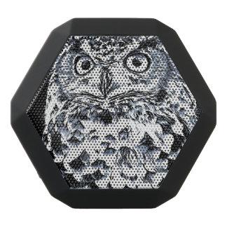 Big Horned Owl Art Black Bluetooth Speaker