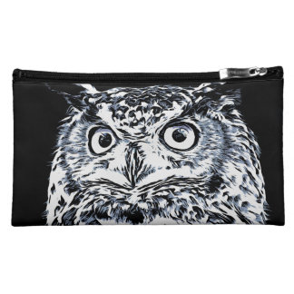 Big Horned Owl Art Makeup Bag