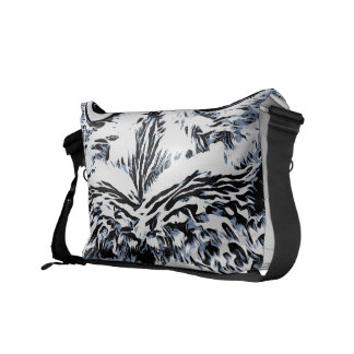 Big Horned Owl Art Messenger Bag