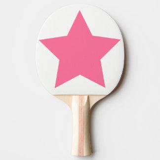 Big Hot Pink Star Ping Pong Paddle