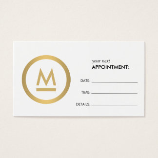 Big Initial Modern Monogram Appointment Card
