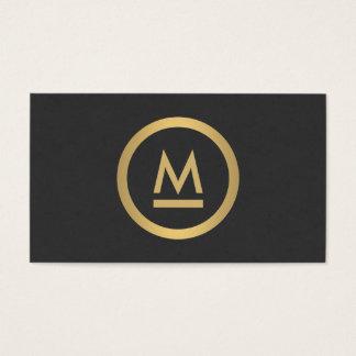 Big Initial Modern Monogram in Faux Gold