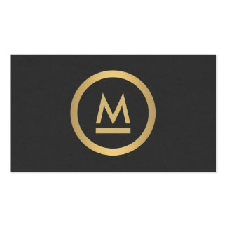 Big Initial Modern Monogram in Faux Gold Pack Of Standard Business Cards