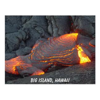 Big Island Lava Flow Postcard