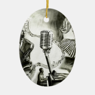 Big Jazz Ceramic Ornament