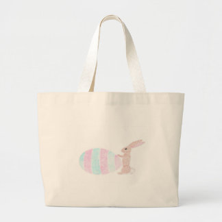 Big Job For A Little Bunny Large Tote Bag