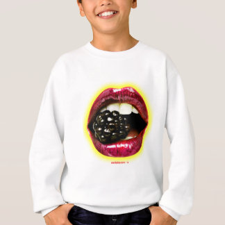 Big Juicy Lips Biting a Big Juicy Blackberry Sweatshirt