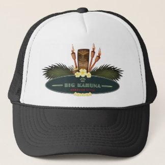 Big Kahuna Board with Palm & Tiki Trucker Hat