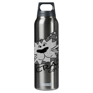 Big Kitty Face Crazy Cat Lady 0.5 Litre Insulated SIGG Thermos Water Bottle
