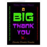Big Large Thank You Cards Custom