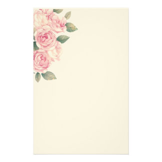Big Light Pink Roses as Decoration Stationery