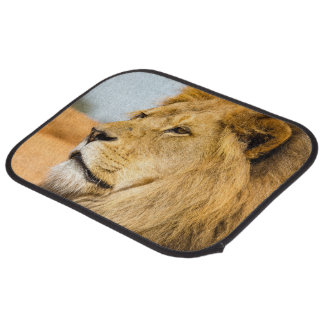 Big lion looking far away car mat