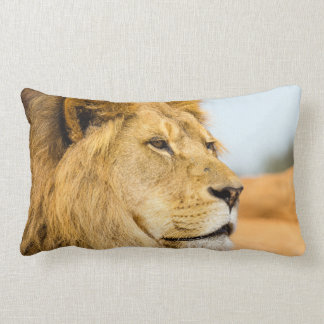 Big lion looking far away lumbar cushion