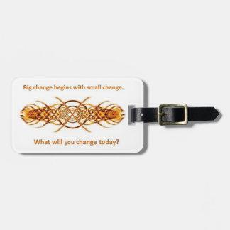 Big Little Change luggage tag - gold