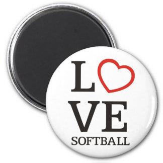 Big LOVE Softball 6 Cm Round Magnet