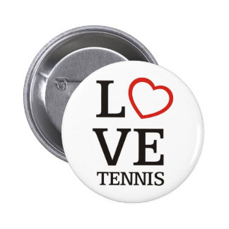 Big LOVE Tennis 6 Cm Round Badge