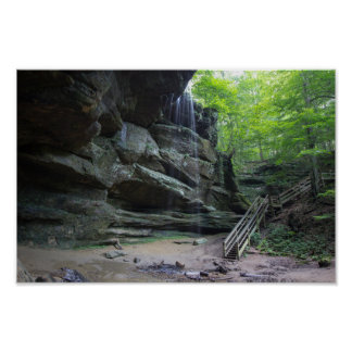 Big Lyons Falls, Mohican State Park, Ohio Poster