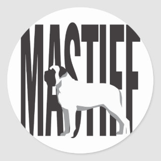 Big MASTIFF Classic Round Sticker