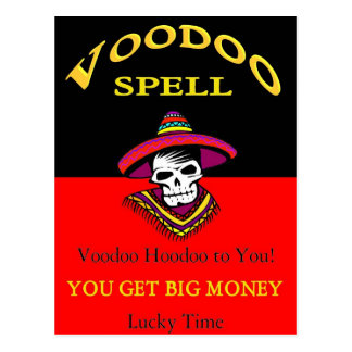 Big Money Voodoo Spell Postcard