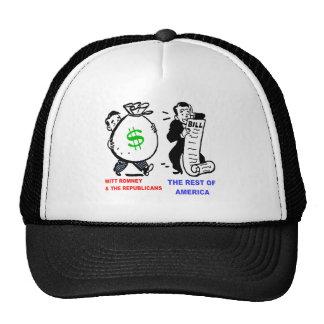 Big Moneybags Mitt Romney versus average Americans Mesh Hats