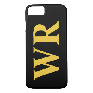 Big Monogram Letters Yellow and Black Bold Style iPhone 8/7 Case