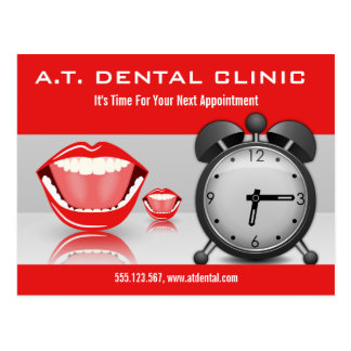 Big Mouth Dental Appointment Reminder Postcards