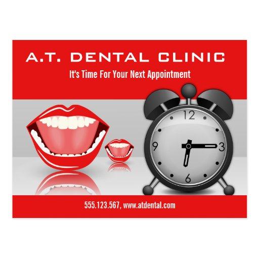 Big Mouth Dental Appointment Reminder Postcards Postcard