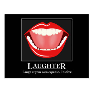 Big Mouth Funny Laughter Motivational Postcards