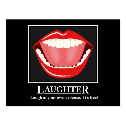 Big Mouth Funny Laughter Motivational Postcards Postcards