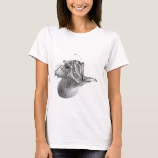 Big mouth gulper angler fish pencil drawing T-Shirt