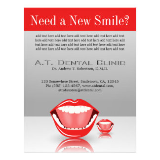 Big Mouth Large Dentist Dentistry Dental Gray Red Flyer