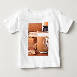 Big mug of hot cocoa with foam baby T-Shirt