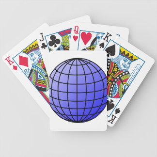 Big Network Globe Bicycle Playing Cards