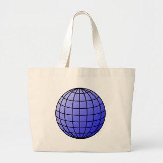 Big Network Globe Large Tote Bag