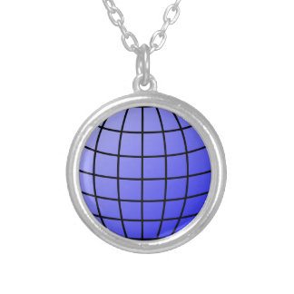 Big Network Globe Silver Plated Necklace