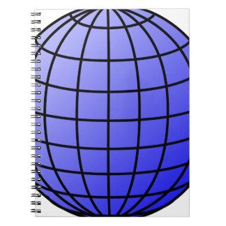 Big Network Globe Spiral Notebook