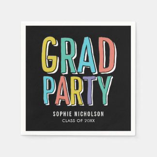 Big News EDITABLE COLOR Graduation Napkins Paper Serviettes
