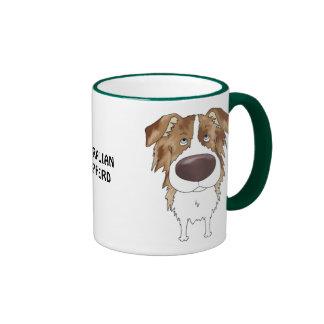 Big Nose Australian Shepherd Ringer Mug